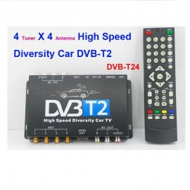 Tuner TV auto Digital DVB-T2 cu 4 antene EDT-DVBT24