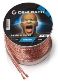 Speaker Cable 2x2,50mm clear 10M